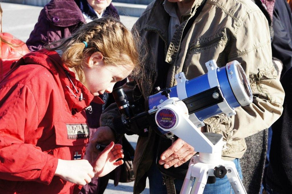 Наблюдения Солнца в телескоп.