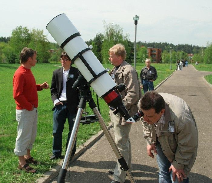 Наблюдение Солнца в телескоп