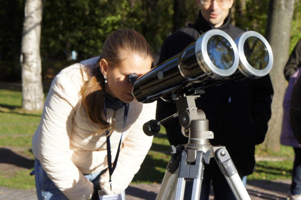 Бинокуляр Владимира Куйбышева, оснащенный фильтрами Seymour Solar