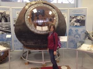 Спускаемая капсула Ю.А.Гагарина. Оригинал.