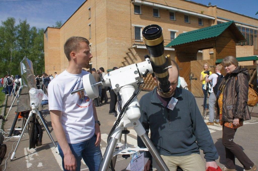 Наблюдения солнца в специальный хромосферный телескоп Coronado.